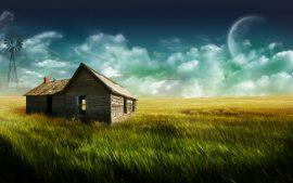 Papel de parede Casa Misteriosa