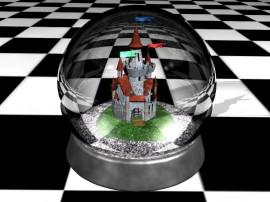 Papel de parede Castelo do Globo de Neve – 3D