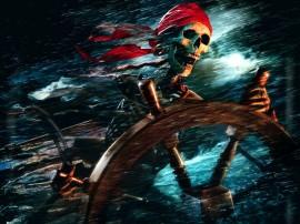 Papel de parede Caveira de Piratas do Caribe
