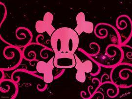 Papel de parede Caveira Rosa – EMO