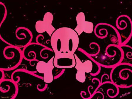 Papel de parede Caveira Rosa – EMO para download gratuito. Use no computador pc, mac, macbook, celular, smartphone, iPhone, onde quiser!