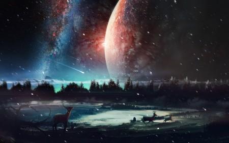 Papel de parede Cenário do Universo para download gratuito. Use no computador pc, mac, macbook, celular, smartphone, iPhone, onde quiser!