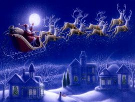 Papel de parede Céu de Natal