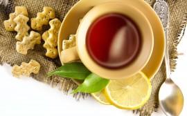 Papel de parede Chá de Limão com Biscoitos