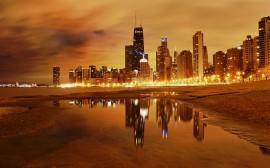 Papel de parede A Noite em Chicago