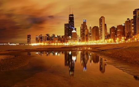 Papel de parede A Noite em Chicago para download gratuito. Use no computador pc, mac, macbook, celular, smartphone, iPhone, onde quiser!