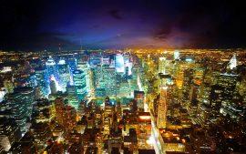 Papel de parede Cidade Iluminada