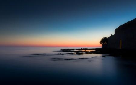 Papel de parede Por do Sol na Costa para download gratuito. Use no computador pc, mac, macbook, celular, smartphone, iPhone, onde quiser!