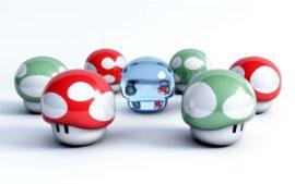 Papel de parede Cogumelos do Super Mario
