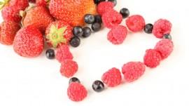 Papel de parede Coração de Frutas