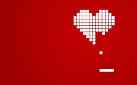 Papel de parede Corações de Pixels