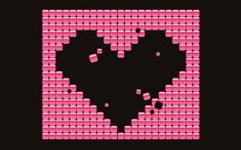 Papel de parede Coração Mosaico