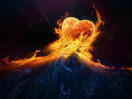 Papel de parede Coração Desejado