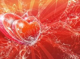 Papel de parede Corações Brilhantes