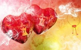 Papel de parede Corações Brilhantes Apaixonados