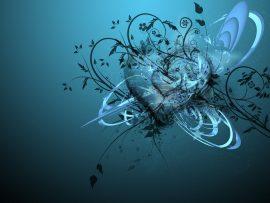 Papel de parede Coração abstrato