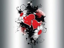 Papel de parede Coração e flores
