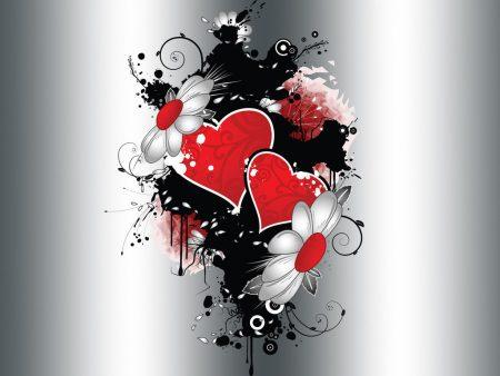 Papel de parede Coração e flores para download gratuito. Use no computador pc, mac, macbook, celular, smartphone, iPhone, onde quiser!