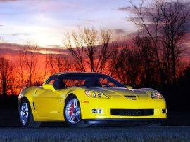 Papel de parede Corvette amarelo