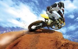 Papel de parede Motocross: Na Rampa