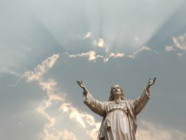 Papel de parede Cristo Estátua