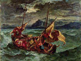 Papel de parede Cristo no mar da Galiléia