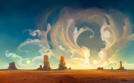 Papel de parede Desenho de Deserto