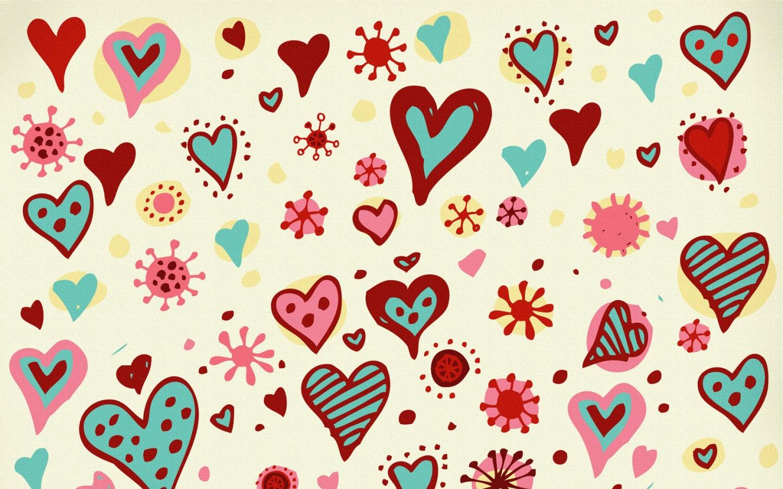 Papel de parede desenhos divertidos de cora es wallpaper for Papel de pared para pintar