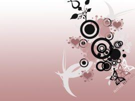 Papel de parede Design e borboletas