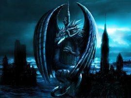 Papel de parede Dragão – Cidade