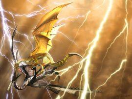 Papel de parede Dragão – Luta
