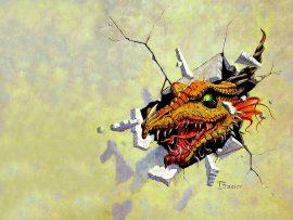 Papel de parede Dragão – Saindo