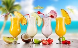 Papel de parede Drinks Tropicais