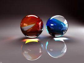 Papel de parede Duas esferas 3D