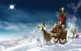 Papel de parede Duendes do Papai Noel