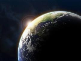 Papel de parede Terra durante eclipse solar