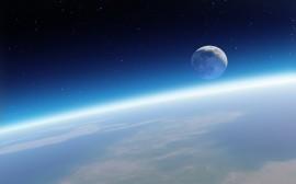 Papel de parede A Terra e a Lua