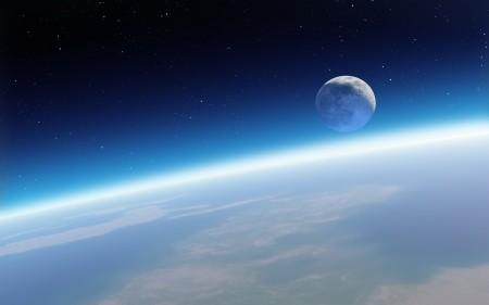 Papel de parede A Terra e a Lua para download gratuito. Use no computador pc, mac, macbook, celular, smartphone, iPhone, onde quiser!