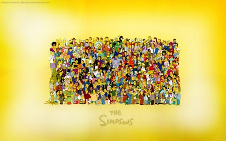 Papel de parede Elenco dos Simpsons para download gratuito. Use no computador pc, mac, macbook, celular, smartphone, iPhone, onde quiser!