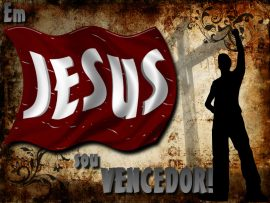 Papel de parede Em Jesus sou vencedor