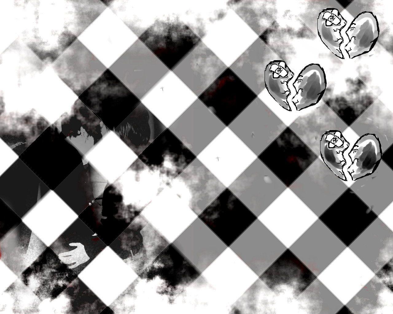 Papel De Parede Emo Xadrez Wallpaper Para Download No Celular Ou