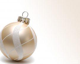 Papel de parede Enfeite de Natal – Branco e Dourado