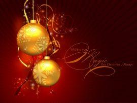 Papel de parede Enfeite de Natal – Dourado