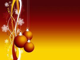 Papel de parede Enfeite de Natal – Vermelho e Laranja