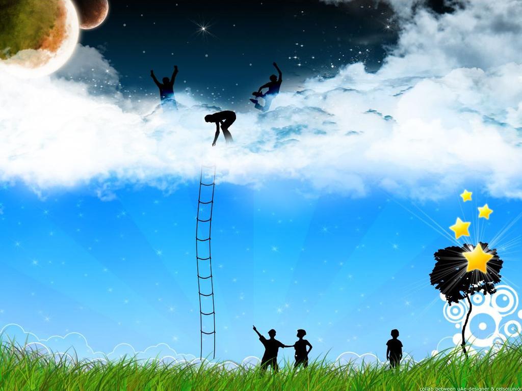 Papel de parede Escada para o Céu para download gratuito. Use no computador pc, mac, macbook, celular, smartphone, iPhone, onde quiser!