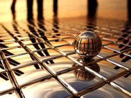 Papel de parede Esfera com Imagem Refletida