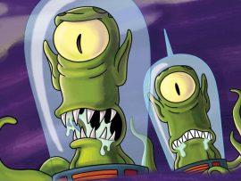 Papel de parede ETs dos Simpsons