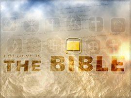 Papel de parede Eu acredito na Bíblia
