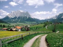 Papel de parede Europa: Caminho e Montanha