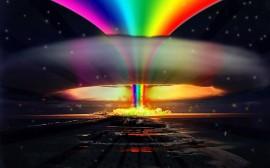 Papel de parede Explosão de Arco-Íris